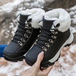 Womens Winter Snow Shoes Mid top Cotton Shoes Running Casual Hiking Shoes Size 9 $42.99