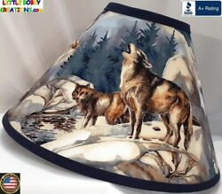 WOLF WOLVES LAMP SHADE Clip On $65.95 LAST ONE $65.95