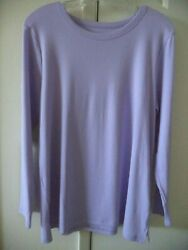Old Navy Lilac Lt Purple Lavender Soft Cotton Modal T shirt Knit Top 8 10 Medium $16.99