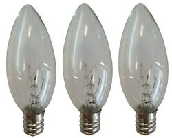 3 Pack TOUCH LAMP REPLACEMENT BULBS Candelabra Base 120V 15W Lamp Bulb $5.97