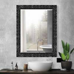 Black Framed Mirror Bathroom Vanity Wall Living Room Bedroom Hallway Beveled $99.95