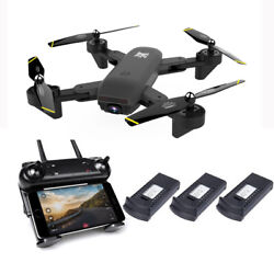 Cooligg FPV Wifi Dual HD Camera RC Selfie Drone Foldable Quadcopter 4K 1080P Toy $64.99