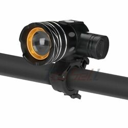 T6 LED Bicycle Light Bike Rechargeable Brightness Headlight High Low Strobe $18.39