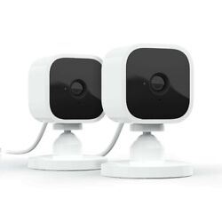 Introducing Blink Mini – Camera in White 2 Pack 1080 HD video motion detectio $40.09