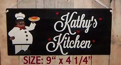 SIGN FAT CHEF PERSONALIZED AFRICAN AMERICAN WALL KITCHEN DECOR FREE NAME. $12.25
