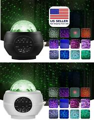 LED Galaxy Starry Night Light Projector Ocean Star Sky Party Music Speaker Lamp. $20.99