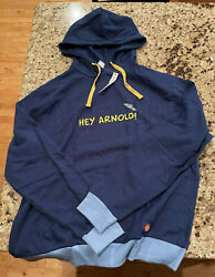 Nickelodeon Nick Box Hey Arnold Happy Halloween Pullover Hoodie Sz L Large $34.90