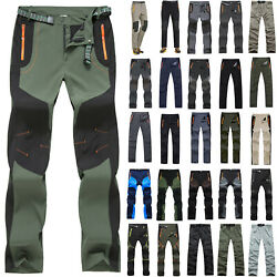 Mens Army Trekking Hiking Pants Outdoor Sports Quick Dry Pants Fishing Trousers $18.80