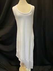 Tommy Bahama Dress Maxi Women MED Cotton Bl White sleeveless $18.50