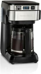 Hamilton Beach Programmable Coffee Maker 12 Cups Front Access Easy Fill Pause $38.99