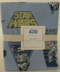 NWT Pottery Barn Kids Star Wars Hans Solo Twin duvet cover $49.16