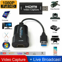 1080P 4K HDMI to USB 2.0 3.0 Video Capture Card Game Audio Video Live Streaming $6.97