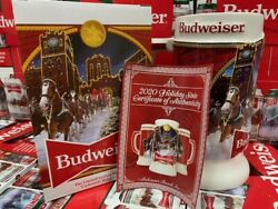 2020 Budweiser Holiday stein mug annual Christmas series New in Box $34.98