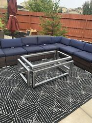 Infinity Table Modern Table Decorative Steel Table $899.00