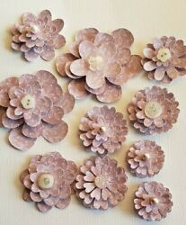 Handcrafted Paper Flowers 3 D DIY Wedding Party Décor Crafting so many uses $10.00