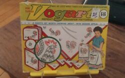 Vintage Vogart 646 Repeat Transfer patterns embroidery Kitchen Roosters NEW C $12.00