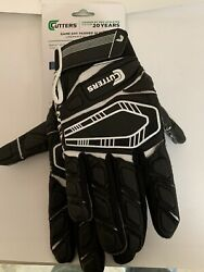 Cutters football gloves Padded Adult Medium Super Sticky Grip A3 $18.00