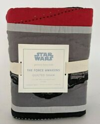 NWT Pottery Barn Kids Star Wars The Force Awakens quilted euro sham $39.95