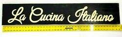La Cucina Italiano Large Wooden Sign ITALIAN Kitchen Wall Decor 40quot; x 7.5quot; $16.59
