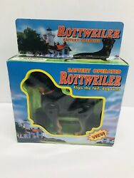 90#x27;s Rare Vintage Rottweiler Dog Battery Operated Moving 1999 Funmax Toys New $20.49