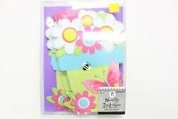 8 Pack Amscan Garden Girl Novelty Birthday Party Invitation Cards Flowers $13.95