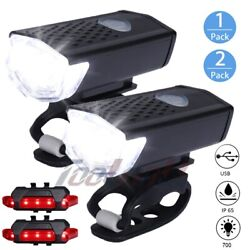 8000 Lumen USB Bicycle LED Front Rear Lamp Set Rechargeable Cycling Bike Light $10.98