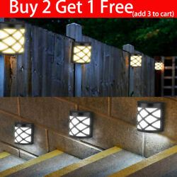 Solar Wall Mount Light LED Outdoor Garden PathWay Fence Yard Patio Lamp Security