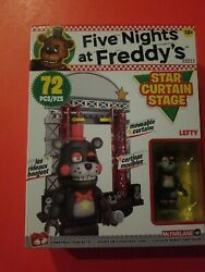 NEW Five Nights at Freddy#x27;s McFarlane Star Curtain Stage LEFTY 72 Pc $40.00