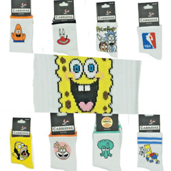 SpongeBob Characters Cotton Fun Socks High Quality Gift OneSize FitsAll $7.99