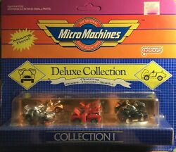 MICRO MACHINES DELUXE COLLECTION #1 mfg1986 88 3 moving parts vehicle in 1 pack $75.00