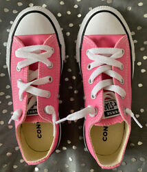 Converse All Star Youth Size 12 Girl#x27;s Pink Shoes Excellent $15.50