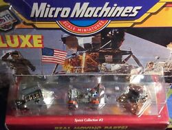 MICRO MACHINES DELUXE COLLECTION #2 1990 real moving parts 3 vehicle in 1 pack $38.00