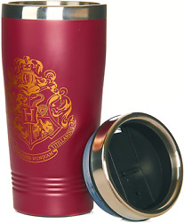 Paladone Harry Potter Hogwarts Travel Mug Commuter Coffee Cup Burgundy Color $19.99
