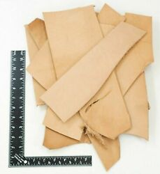 WD 47 2LB Vegetable Tan Tooling Cowhide Leather Scraps 6 10 oz. Thickness Pieces $17.99