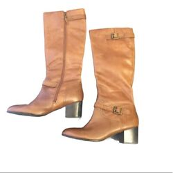 FRANCO SARTO L Opera Leather Riding Tall Boots Women#x27;s Size 9.5 $89.00