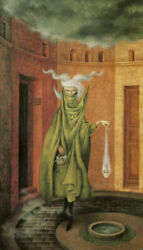 Woman Leaving the Psychoanalyst by Remedios Varo Paper Print Repro $29.99