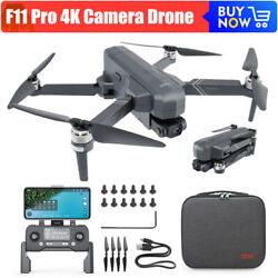 F11 Pro 4K Camera Brushless Wifi FPV GPS Quadcopter Flight 1500m RC Drone W Box $239.00