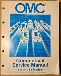 Used OMC Commercial Service Manual 6.5 thru 155 Models P N 507523