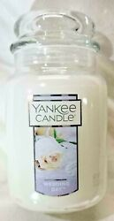 NEW Yankee Candle WEDDING DAY Large Jar 22 Oz White Gift Wax Floral SHIPS FREE $32.95