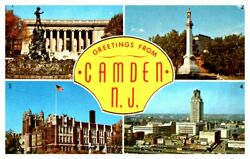 NEW JERSEY Greetings from CAMDEN Library High School Downtown Shopping District $3.89