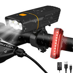 USB Rechargeable 8000LM Bike LED Headlight Bicycle Front Head Lamp Rear Light $13.59