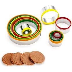 Kitchen Circle Biscuit Cutters Baking Tools Kit Cookie Cutter Cake Mold $14.23