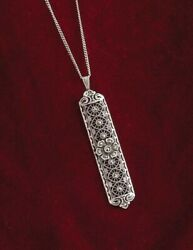 Victorian Trading Co Silver Marcasite amp; Seed Pearl Baroque Bar Necklace $39.99