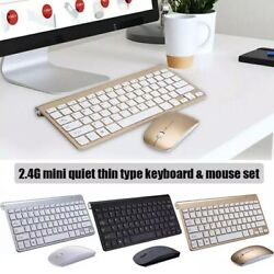 Mini Wireless Keyboard And Mouse Set Waterproof 2.4G For Mac Apple PC Computer $14.95