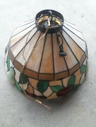 Vintage Tiffany Style Stained Glass Hanging Ceiling Lamp Shade Fruit amp; Leaves $52.79