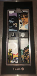 NEW STANCE Star Wars Galactic 4 Pack Sock Set with Collector#x27;s Pins LIMITED sm $50.00