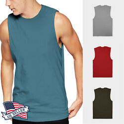 Mens Sleeveless Casual Muscle Tank Top Premium Cotton For Performance $11.99