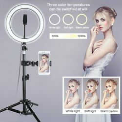 10quot; LED Ring Light w Stand amp; Mount Kit for Camera Phone Selfie Video Live Stream $23.99