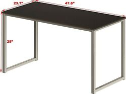 SHW Home Office 48 Inch Computer Desk Silver Espresso $45.00