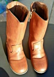 Rampage Girls Knee High Faux Leather Boots Dark Brown Size 11 $18.99
